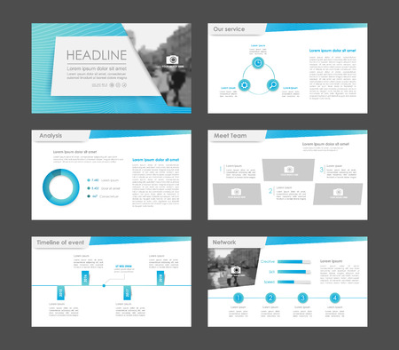 Set of blue infographic elements for presentation templates. Leaflet, Annual report, book cover design. Brochure, layout, Flyer layout template design.