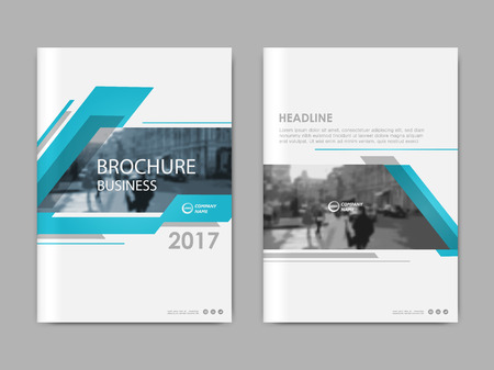Annual report, flyer, presentation, brochure. Front page report , book cover layout design. Design layout template in A4 size . Abstract green transparent polygons cover templates