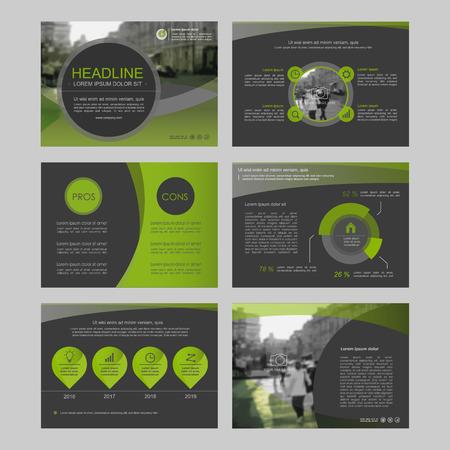 Ensemble d'éléments infographiques de couleur pour les modèles de présentation. Dépliant, rapport annuel, la conception de la couverture du livre. Brochure, mise en page, la conception Flyer de modèle de mise en page.
