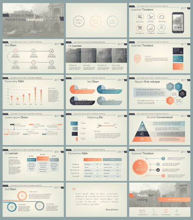 Set of retro color infographic elements for presentation templates. Leaflet, Annual report, book cover design. Brochure, layout, Flyer layout template design. 일러스트