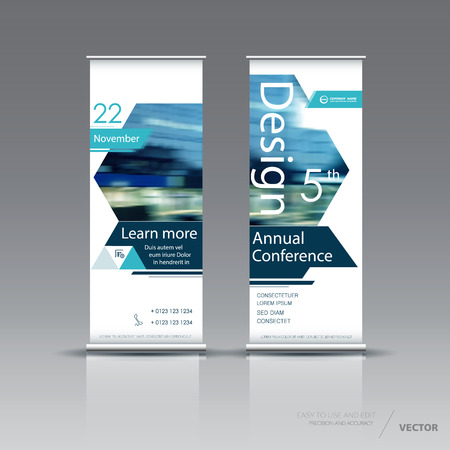 vertical banner template design royalty free cliparts vectors and