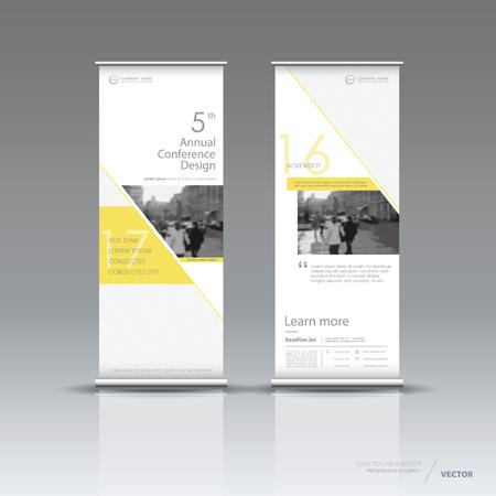 Vertical banner template design