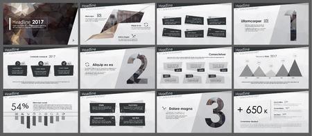Elementen van infographics in lage polystijl Stock Illustratie