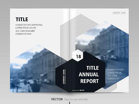 Informe anual de diseño de cubierta, folleto, folleto. Ilustración de vector