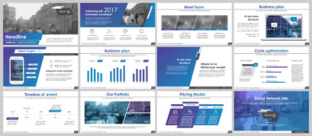 Léments pour infographies et modèles de présentation. Banque d'images - 73206552