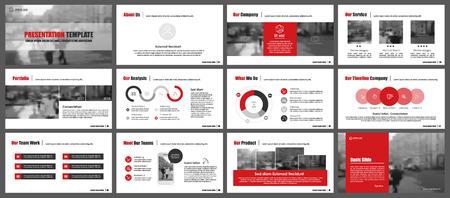 Éléments pour infographies et modèles de présentation.
