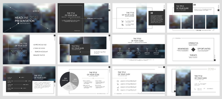Elements for presentation templates. Çizim
