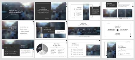 Elements for presentation templates. Illustration