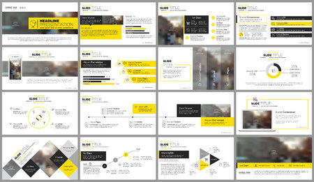 Elements for presentation templates. Vectores