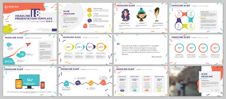 Elements for presentation templates. Ilustracja