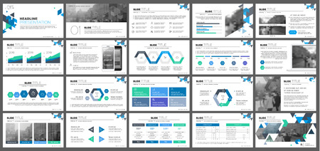 Elements for presentation templates. Stock Illustratie