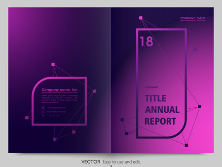 Cover design annual report, flyer, brochure.