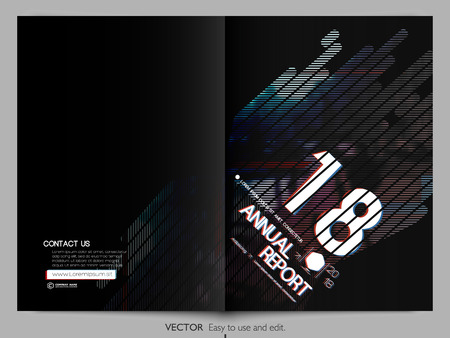 Cover design annual report, vector template brochures, flyers, presentations, leaflet, magazine a4 size. Minimalistic design background Illustration