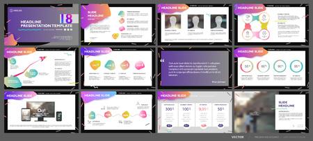 Business presentation template set.