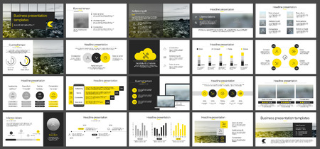 Elements for presentation templates.  イラスト・ベクター素材