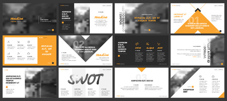Minimal presentation templates elements on a white background. Vector infographics. Use in Presentation, flyer and leaflet, corporate report, marketing, advertising, annual report, banner. Stock Illustratie