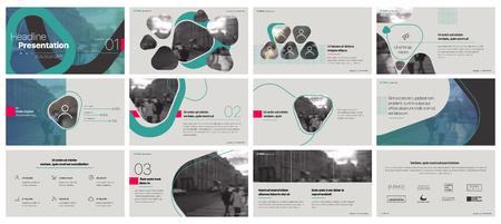 Éléments de modèles de présentation minimale sur un fond blanc. Infographie de vecteur. Utilisation dans Présentation, dépliant et dépliant, rapport d'entreprise, marketing, publicité, rapport annuel, bannière.