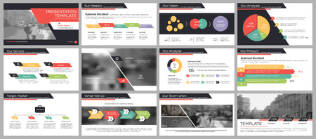 Minimal presentation templates elements on a white background. Vector infographics. Use in Presentation, flyer and leaflet, corporate report, marketing, advertising, annual report, banner. 일러스트