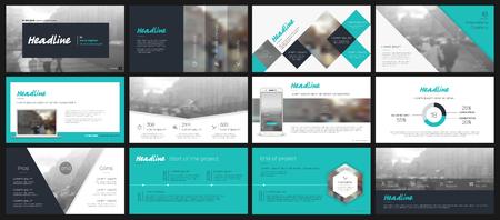 Elementy szablonów prezentacji na białym tle. Infografiki wektorowe. Zastosowanie w prezentacjach, ulotkach i ulotkach, raportach korporacyjnych, marketingu, reklamie, raporcie rocznym, banerze.