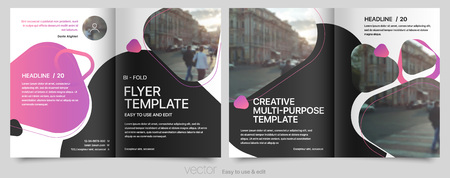Poster flyer pamphlet brochure, portfolio, cover design annual report, vector template, leaflet, magazine a4 size. Minimalistic design background Ilustração