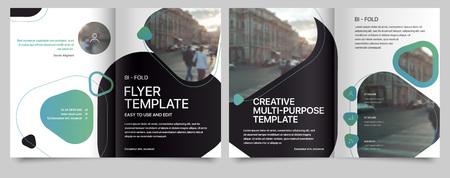 Poster flyer pamphlet brochure, portfolio, cover design annual report, vector template, leaflet, magazine a4 size. Minimalistic design background Illustration