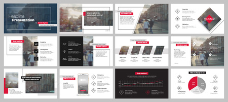 Presentation templates. Vector infographics. Use in Presentation, flyer and leaflet Stockfoto