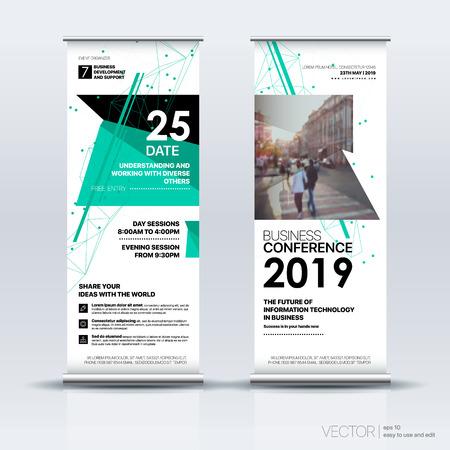 Vertical Banner Design Signboard Advertising Brochure Flyer Template