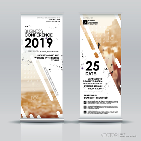 Vertical Banner Design Signboard Advertising Brochure Flyer