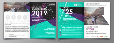 Business Template for Fyer Design Portfolio Booklet Brochures Layout Leaflet Magazine. Stock vector
