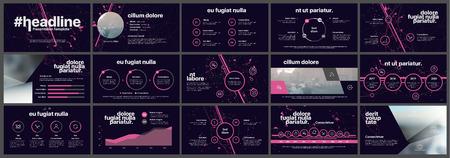 Elementos para infografías sobre un fondo blanco. Plantillas de presentación. Uso en presentación, folleto y folleto, informe corporativo, marketing, publicidad, informe anual, banner.