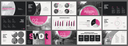 Tri fold Business Brochure. Creative corporate business template for try fold brochure. Layout with modern elements and abstract green purple chameleon background. Illustration