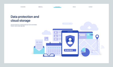 The General Data Protection Regulation. Exchange design flat concept. Technology web, internet information data integration and transforming. Data provision. Vector Illustration