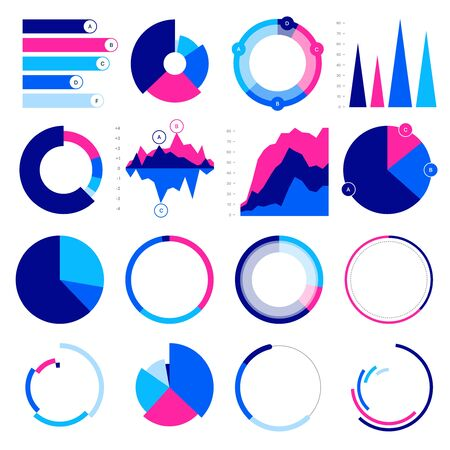 Editable Infographic Templates. Use in corporate report, marketing, annual report. Network management data screen with charts, diagrams. Data Visualization Vector Illusztráció