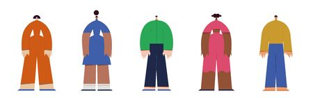 Different people. Vector illustration flat design. Use in Web Project and Applications.