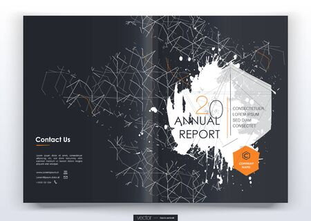 Cover design annual report,vector template brochures, flyers, presentations, leaflet, magazine a4 size. Minimalistic design background Vector Illustration