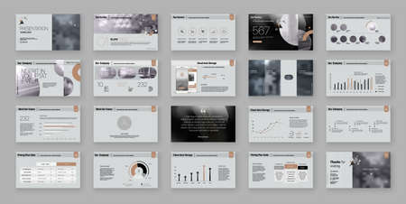 Geometric Presentation Element Templates. Vector infographics. For use in Presentation, Flyer and Leaflet, SEO, Marketing, Webinar Landing Page Template, Website Design, Banner.
