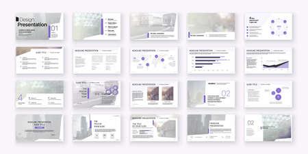 Geometric Purple Presentation Element Templates. Vector infographics. For use in Presentation, Flyer and Leaflet, SEO, Marketing, Webinar Landing Page Template, Website Design, Banner. 스톡 콘텐츠