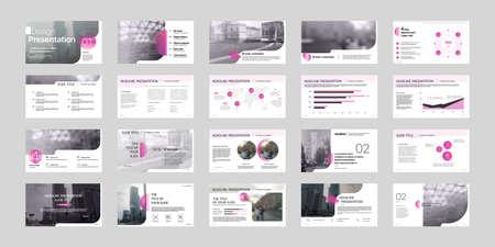 Geometric Presentation Element Templates. Vector infographics. For use in Presentation, Flyer and Leaflet, SEO, Marketing, Webinar Landing Page Template, Website Design, Banner. 스톡 콘텐츠 - 152734546