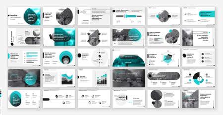 Geometric Green Presentation Element Templates. Vector infographics. For use in Presentation, Flyer and Leaflet, SEO, Marketing, Webinar Landing Page Template, Website Design, Banner.