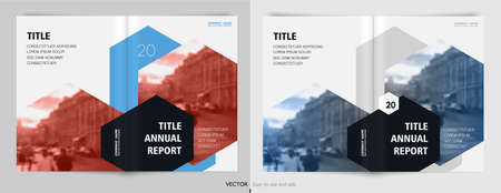 Covers templates set with graphic geometric elements. Applicable for flyer, cover annual report, placards, brochures, posters, banners. Vector illustrations. 일러스트