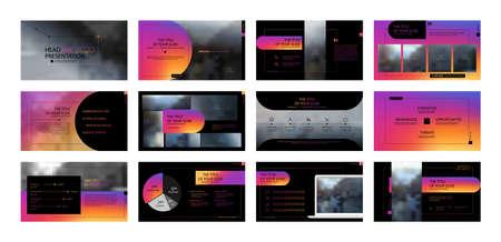 Geometric Presentation Element Templates. Vector infographics. For use in Presentation, Flyer and Leaflet, SEO, Marketing, Webinar Landing Page Template, Website Design, Banner.