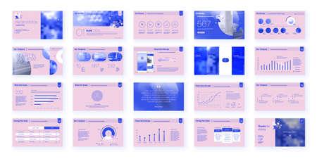 Geometric Purple Presentation Element Templates. Vector infographics. For use in Presentation, Flyer and Leaflet, SEO, Marketing, Webinar Landing Page Template, Website Design, Banner. 일러스트