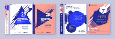 Cover design annual report,vector template brochures, flyers, presentations, leaflet, magazine a4 size. Minimalistic design background Ilustração