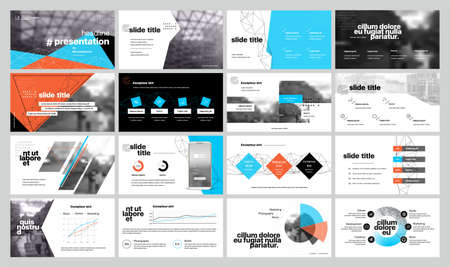 Geometric Graphic Design Project Proposal Presentation. Infographic Slide Template.