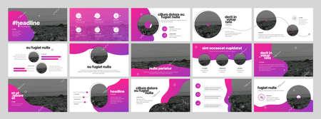 Geometric Graphic Design Project Proposal Presentation. Infographic Slide Template. For use in Presentation, Flyer and Leaflet, SEO, Marketing, Webinar Landing Page Template, Website Design, Banner.