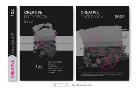 Cover design annual report,vector template brochures, flyers, presentations, leaflet, magazine a4 size. Minimalistic design background 向量圖像
