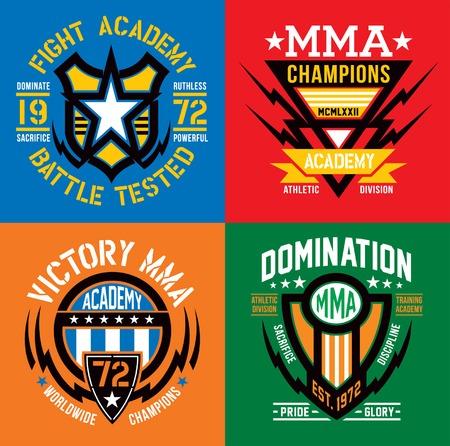 Fight Academy MMA embleem set