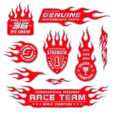Flammen-Emblem Set
