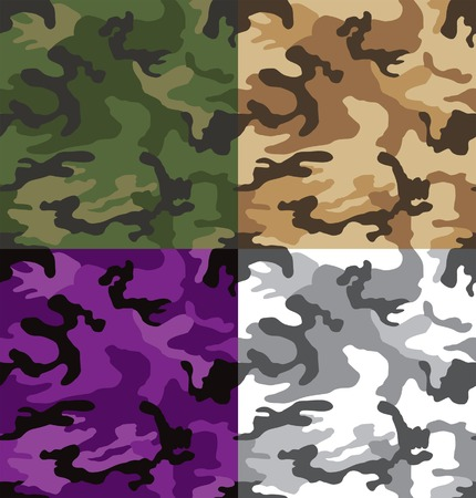 Multi colored camouflage pattern seamless Vector