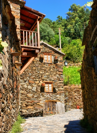 Small typical mountain village of schist in Lousa, Portugal Stock Photo - 14076025